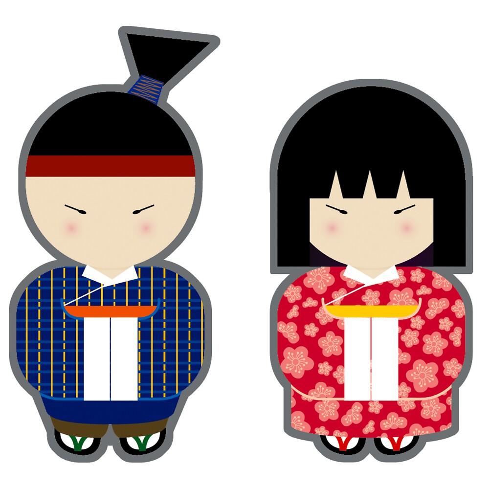Japanese Boy & Girl by Amy Lau