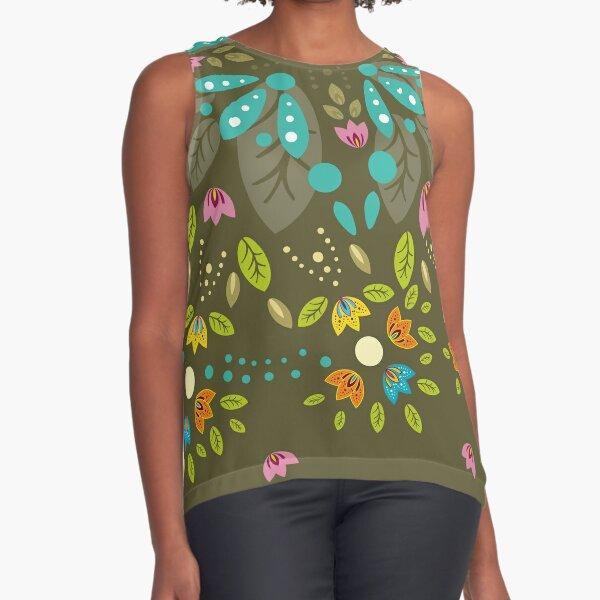 Mandala - little flowers Sleeveless Top