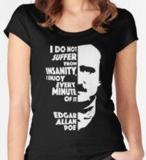 Edgar Allan Poe Insanity Women's Fitted Scoop T-Shirt