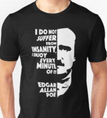 Edgar Allan Poe Insanity Unisex T-Shirt