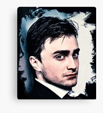 Portrait of Daniel Radcliffe Canvas Print