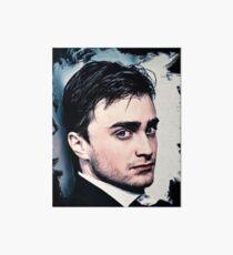 Portrait of Daniel Radcliffe Art Board