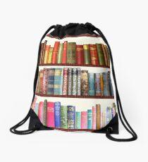 Jane Austen Antique Books Drawstring Bag