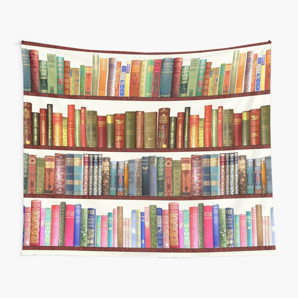 Jane Austen Antique Books Wall Tapestry