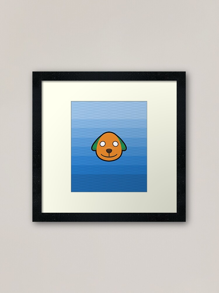 Biskit Animal Crossing Framed Art Print By Purplepixel Redbubble