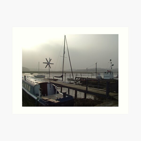 Essex Boats on a Foggy Day Art Print