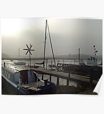 Essex Boats on a Foggy Day Poster