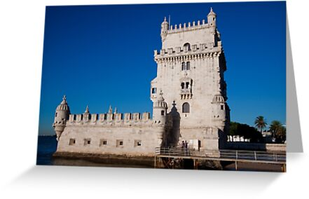 Belem Limestone Tower in Lisbon Portugal by renprovo