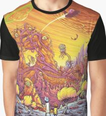 Rick and Morty alien landscape Graphic T-Shirt