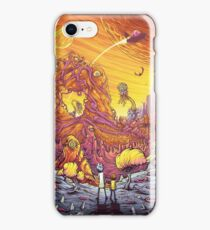 Rick and Morty alien landscape iPhone Case/Skin