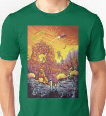 Rick and Morty alien landscape Unisex T-Shirt