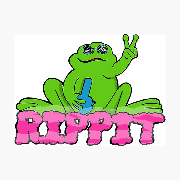 Rippit The Stoner Peace Frog Photographic Print