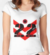 22 You Are Not Alone :: Raising support, awareness and funds for nonprofit organizations offering holistic healing processes to veterans. Women's Fitted Scoop T-Shirt