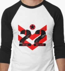 22 You Are Not Alone :: Raising support, awareness and funds for nonprofit organizations offering holistic healing processes to veterans. Men's Baseball ¾ T-Shirt