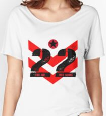 22 You Are Not Alone :: Raising support, awareness and funds for nonprofit organizations offering holistic healing processes to veterans. Women's Relaxed Fit T-Shirt