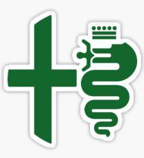 Alfa Romeo biscione/cross (green) Sticker