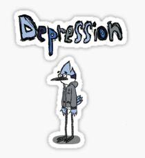 Sad Mordecai  Sticker