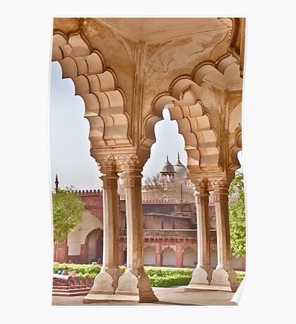View in Agra Fort Poster