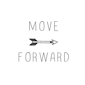 Move Forward  by FreshArtPrints