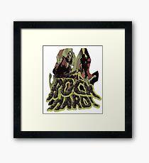 Rock Hard Framed Print