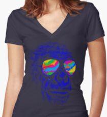 Blue Gorilla Women's Fitted V-Neck T-Shirt