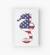 American Flag – Seahorse Hardcover Journal