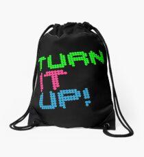Turn It Up! Dance Music Quote Drawstring Bag