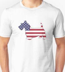 American Flag – Scottish Terrier Unisex T-Shirt