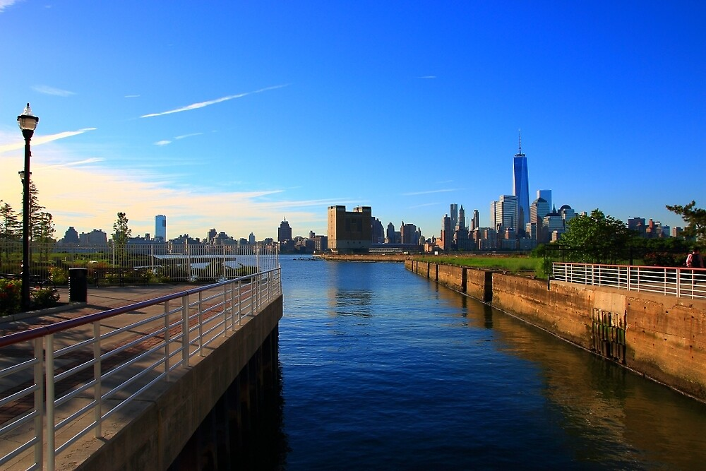 View Of Lower Manhattan Taken From Jersey City NJ by pmarella