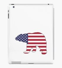 American Flag – Bear iPad Case/Skin