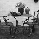 table and chairs by rita flanagan