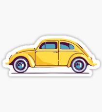 Yellow Classic Volkswagen Beetle Sticker