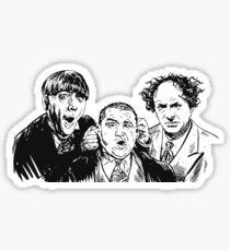 Three Stupid Idiot Ultra Stooges Sticker