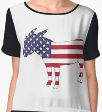 American Flag – Donkey Chiffon Top