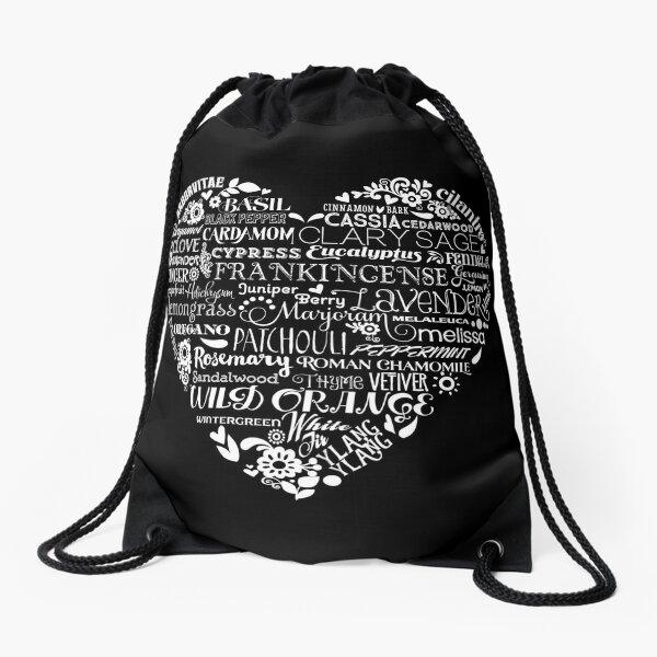 Essential Oil Heart  Drawstring Bag