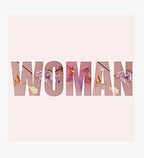 HS1 - Styles Album Floral Woman Design Photographic Print