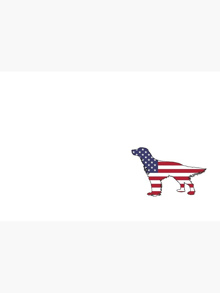 American Flag – English Setter by DelirusFurittus