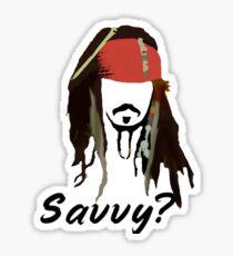 Captain Jack Sparrow Savvy? Sticker