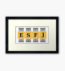 ESFJ Spin Framed Print