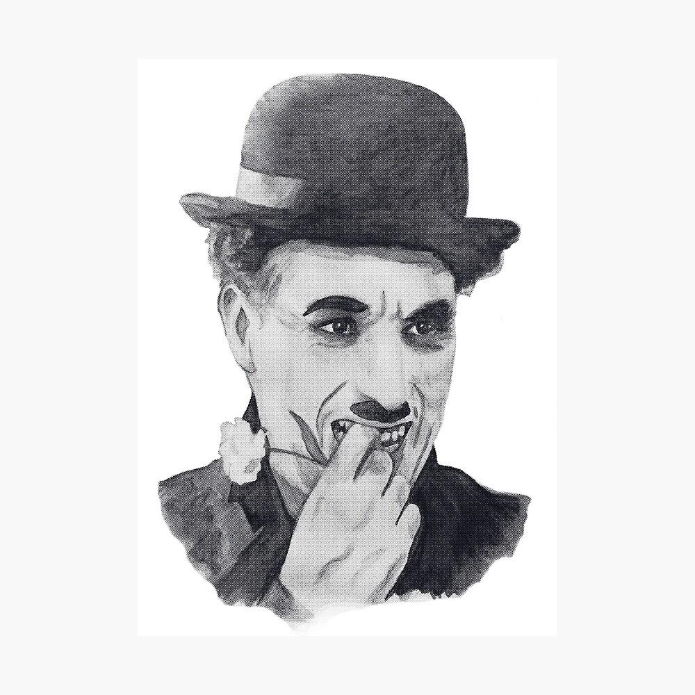 Noir Mini Moustache Charlie Chaplin Style