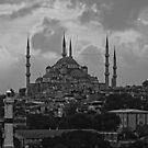 The Blue Mosque, Istanbul - B&W by Tom Gomez