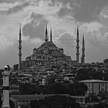 The Blue Mosque, Istanbul - B&W by tomg