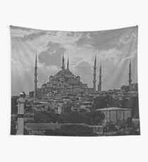 The Blue Mosque, Istanbul - B&W Wall Tapestry