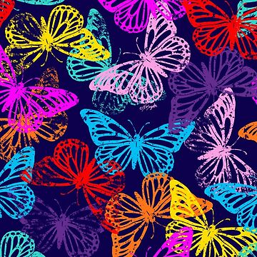 Multicolored Butterflies Pattern by ArtVixen