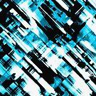 Hot blue and black digital art G253 by MEDUSA GraphicART