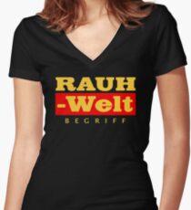 RWB GOLD Women's Fitted V-Neck T-Shirt