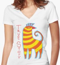 True Story Not a Unicorn Women's Fitted V-Neck T-Shirt