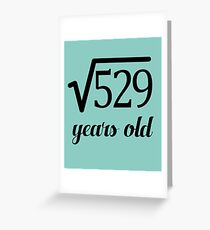 Square Root 23rd Birthday Fun for Math Geeks Greeting Card