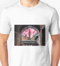 London Photography Big Ben Pink Unisex T-Shirt