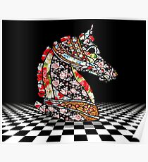 horse head chess game Poster